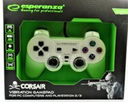 Corsair Gamepad Esperanza GX500 (PC/PS2/PS3) biely