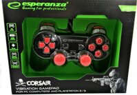 Corsair Gamepad Esperanza GX500 (PC/PS2/PS3) čierno-červený