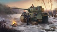 Plagát World of Tanks T-34 HQ lesk