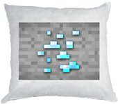 Vankúš Minecraft Diamants Block 40x40cm
