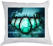 Vankúš Minecraft Diamonds 40x40cm