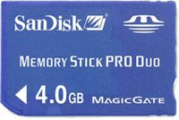 Memory stick pre duo 4 GB Sandisk BLUE