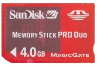 Memory stick pro duo 4 GB Sandisk RED