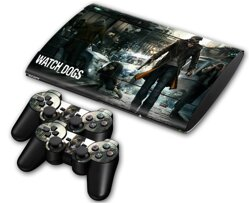 PS3 SuperSlim polep Watch Dogs