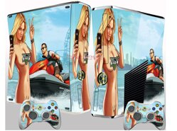 Xbox 360 Slim polep GTA 5 beach